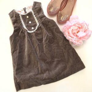 Janie & Jack girls sleeve-less velvety soft dress